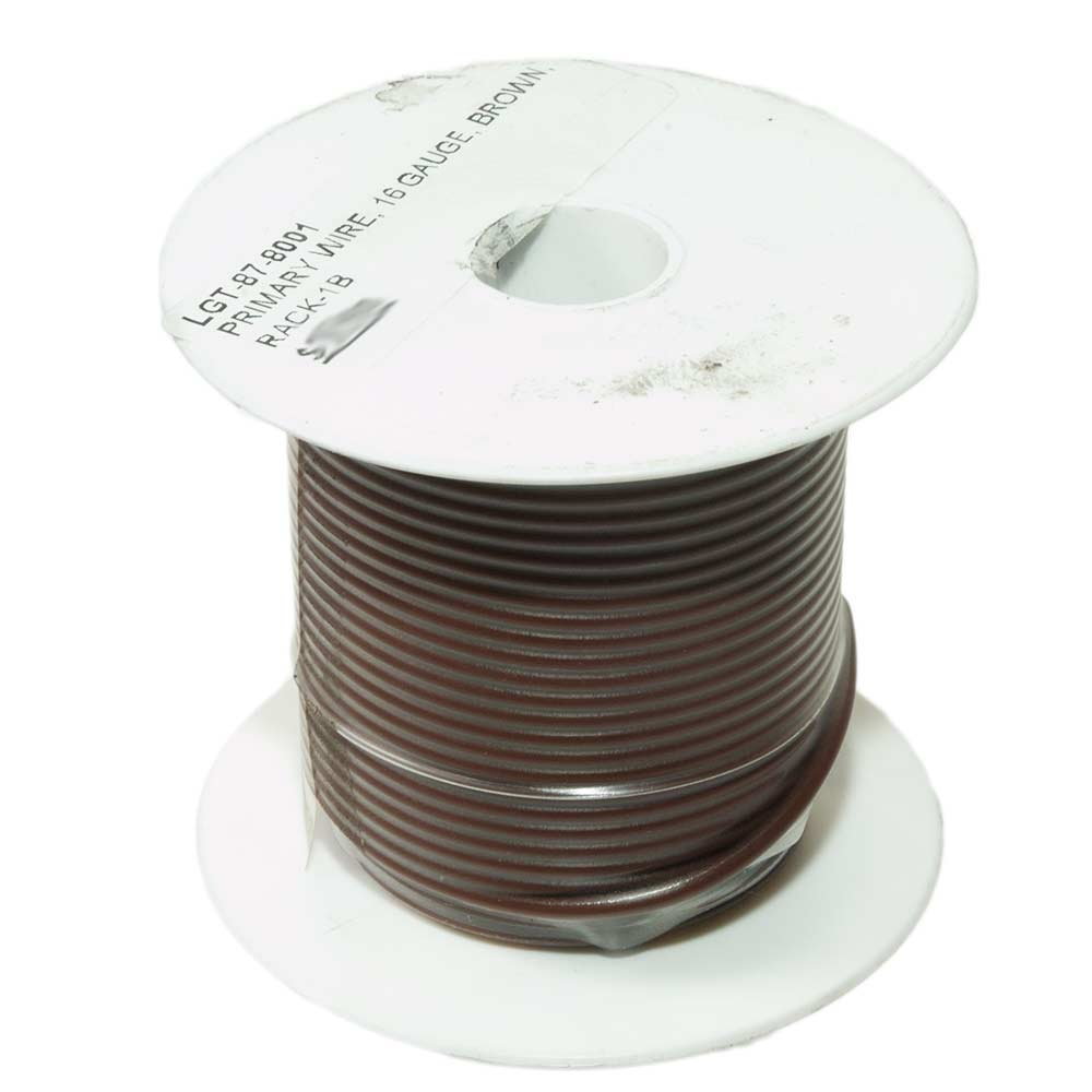 Primary Wire, 16 Gauge, Brown, 100 Ft Spool.. ⋆ TMI Trailer ...